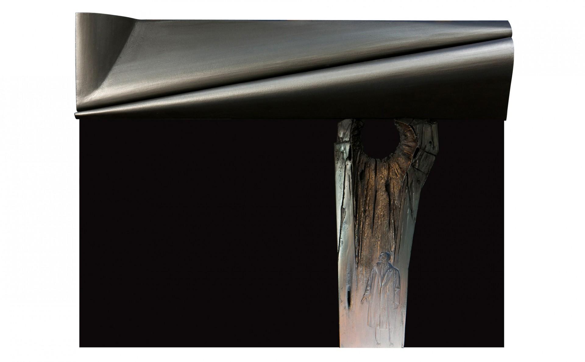 Forra 2011 – modello - cm 82,5x64x9,5 fiberglass, acrylic on cardboard
