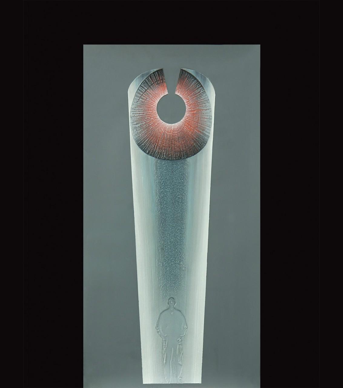 Cruna spezzata 2011 – progetto - cm 37x65,5 - polvere di marmo, sabbia, colori acrilici su film poliestere