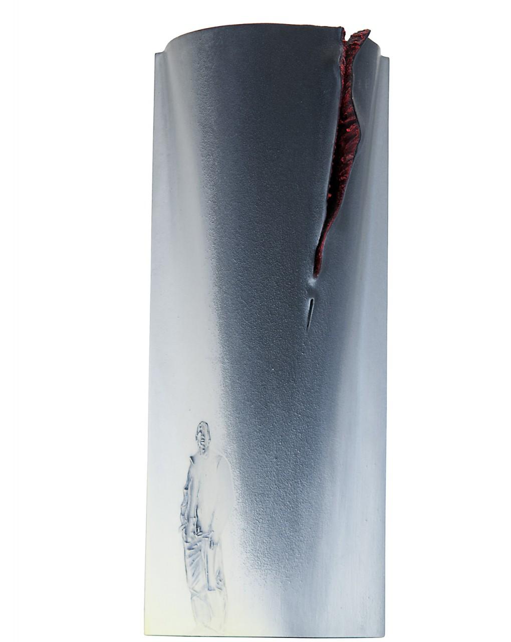 Passeggiata stoica 4 2014 - cm 24,7x61x10 - vetroresina, cartone sagomato, polvere di marmo, sabbia, colori acrilici