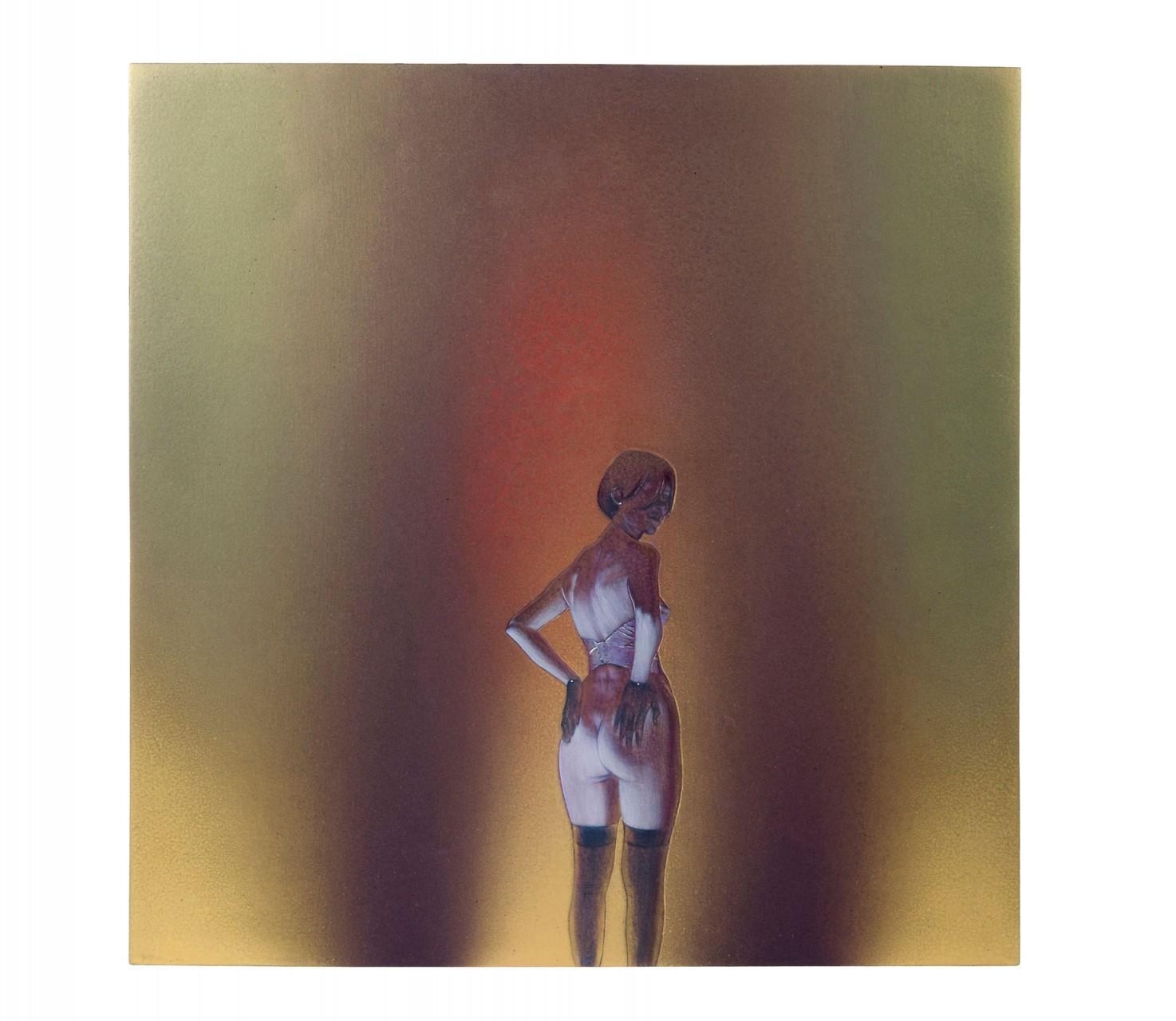 tre perle per T (quarta versione)  2010 - cm 50,5x61 - colori acrilici