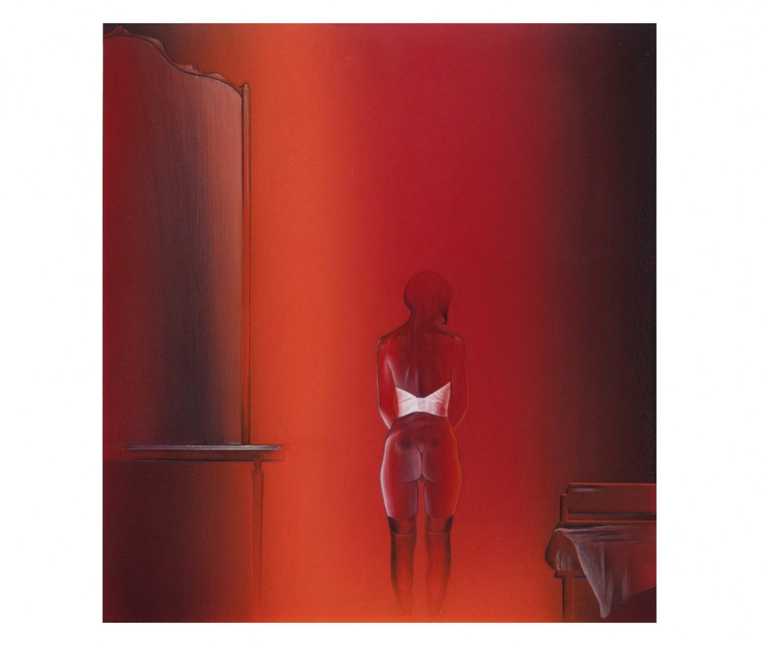 Zona d'ombra, meditazione cartesiana 2013 - cm 46,8x50,4 - resina epossidica, polvere di marmo, colori acrilici