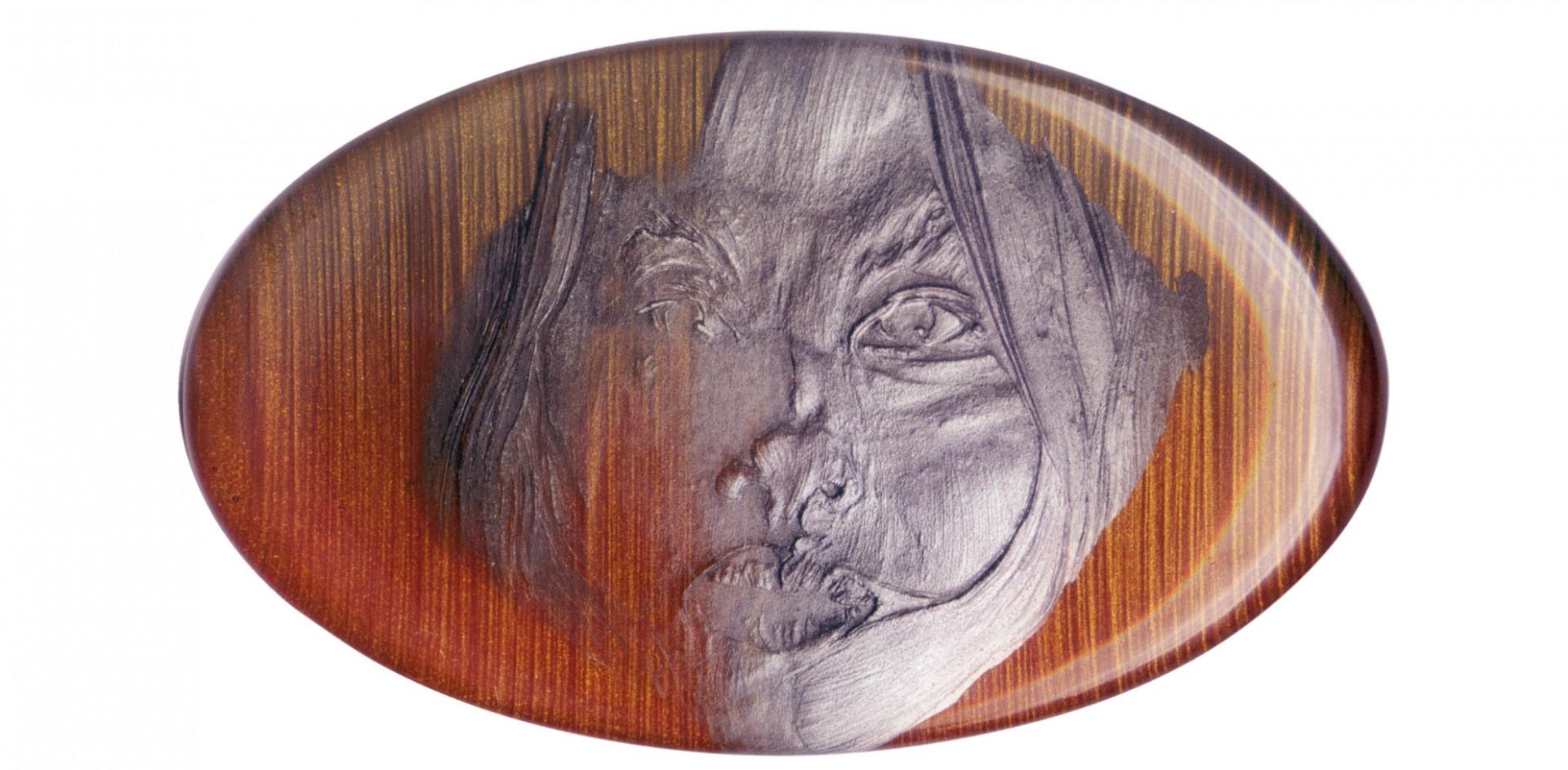 Lily le rosso oro 2004 - cm 25x15 - acrylic, epoxy glazing
