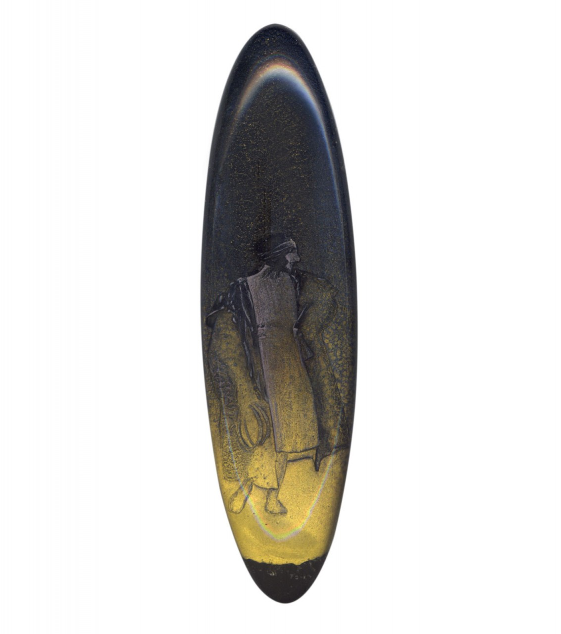 Suzanne blu oro nero 2005 - cm 7x25 - acrylic, epoxy glazing