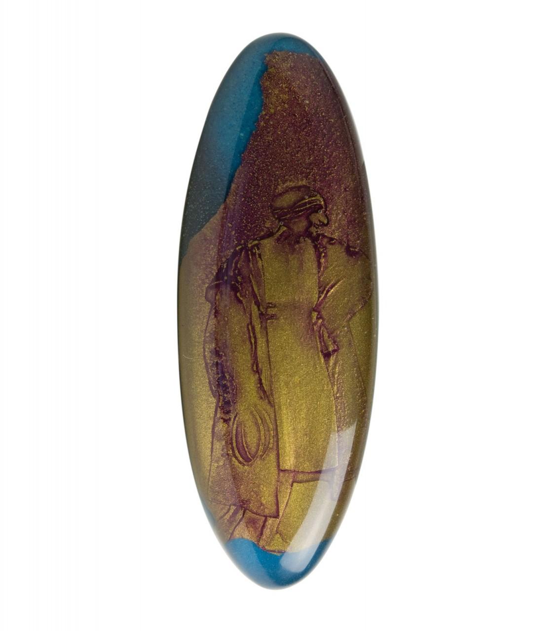 Suzanne viola-oro 2005 - cm 18x6,5 - acrylic, epoxy glazing
