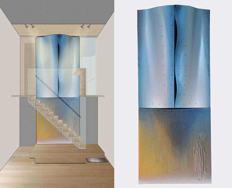 Parma – 2011 - rendering – model cm 22,5x54,5x6,5 - in collaboration with Arch. Gianfranco Zanafredi