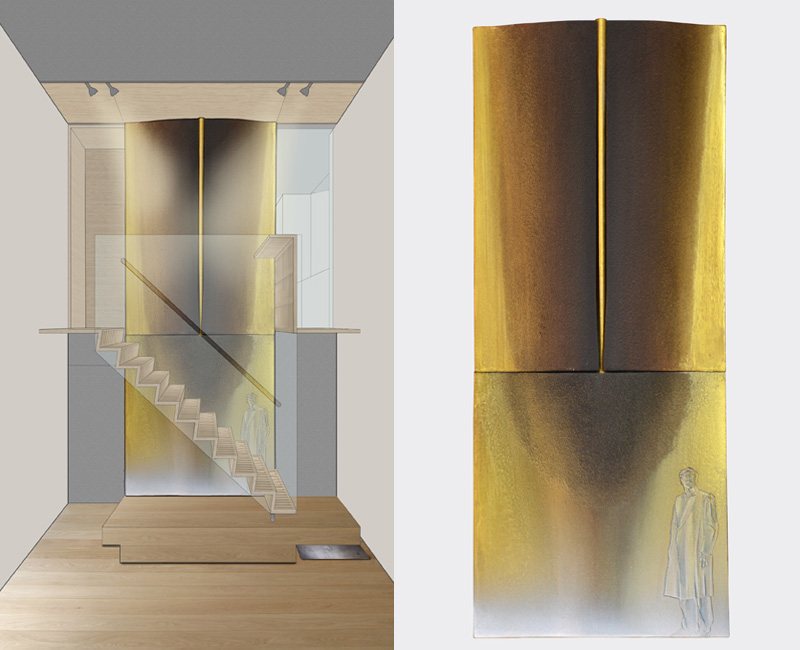 Parma – 2011 - rendering – model cm 22,5x54,5x3,5 - in collaboration with Arch. Gianfranco Zanafredi