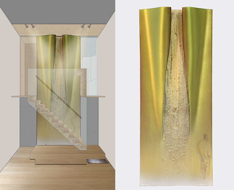 Parma – 2011 - rendering – model cm 22,5x54,5x5 - in collaboration with Arch. Gianfranco Zanafredi