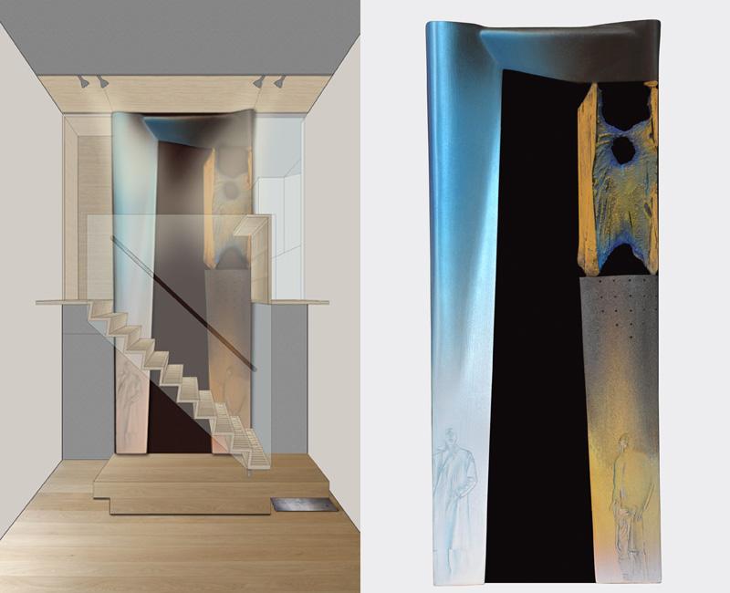 Parma – 2011 - rendering – model cm 22,5x54,5x4 - in collaboration with Arch. Gianfranco Zanafredi