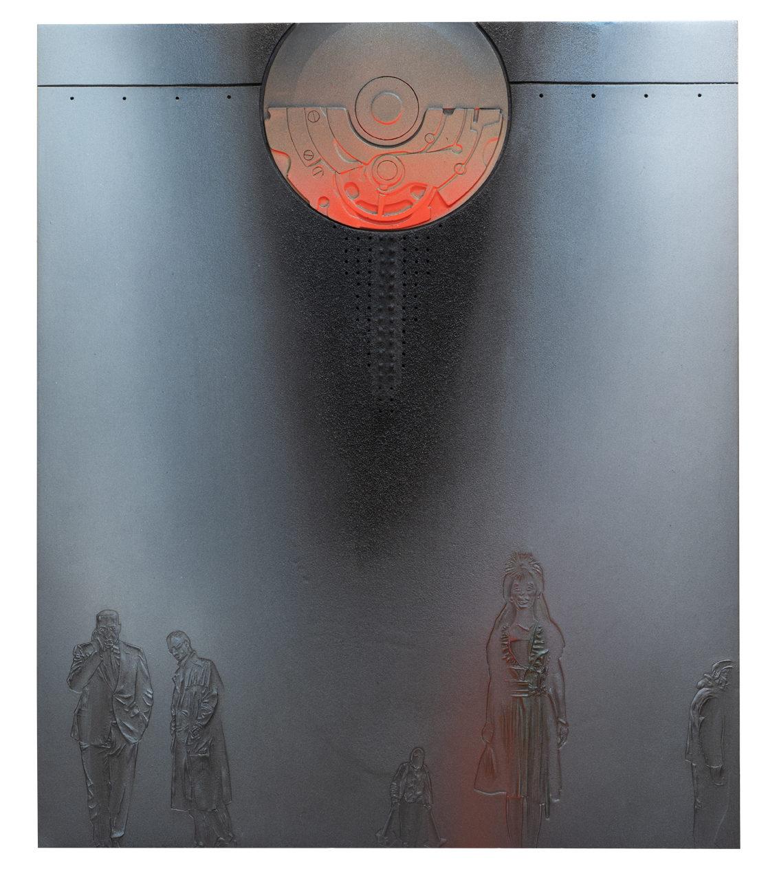 Passanti (Nippo) 2019 – cm 60x72 - resina epossidica, polvere di marmo, sabbia, colori acrilici