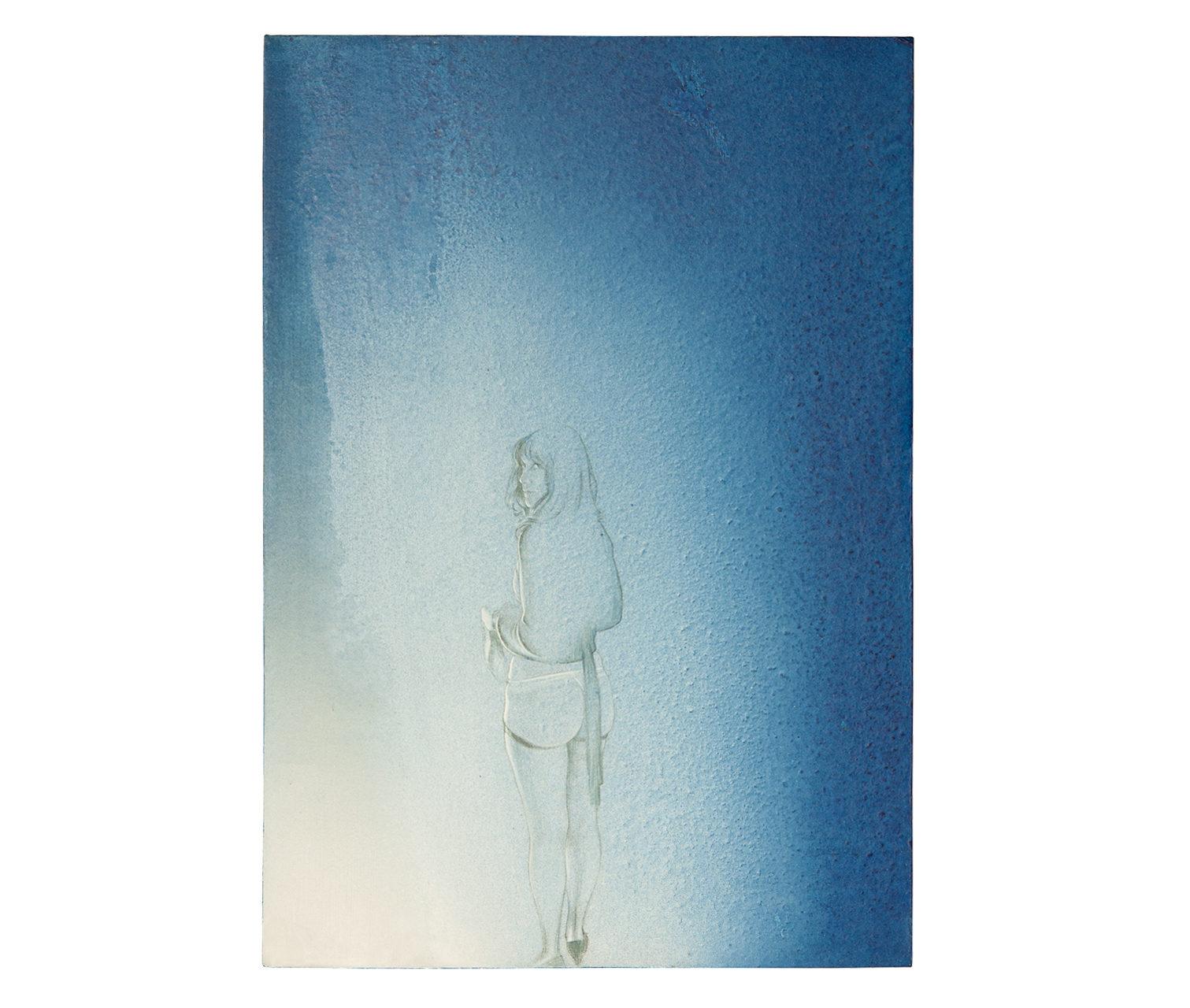 Studio per Mrs. R. 2013 - cm 27,9x40,2 - disegno, colori acrilici su carta su legno
